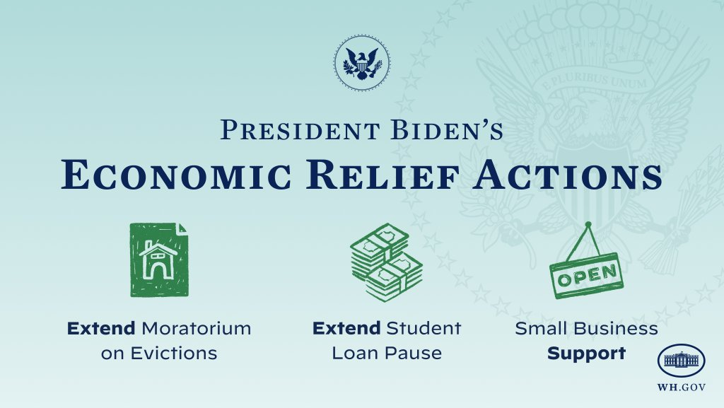 Joe Biden firma órdenes para ayudar a estadounidenses de bajos ingresos