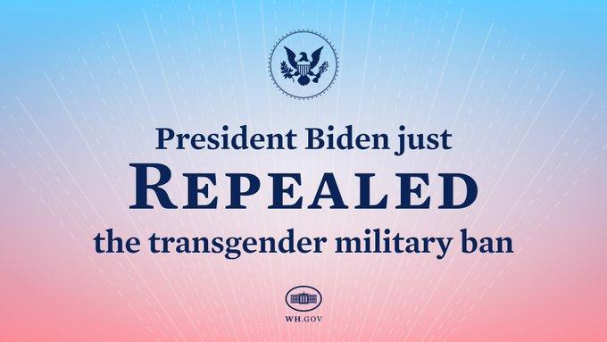 Joe Biden levanta la prohibición militar transgénero impuesta por la administración de Trump