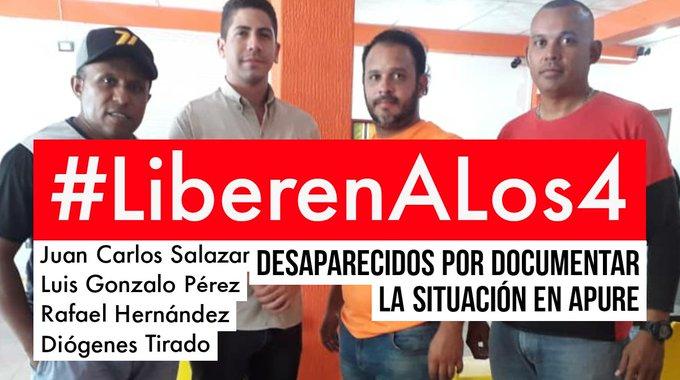 Dos periodistas y dos miembros de una ONG fueron detenidos en estado fronterizo venezolano