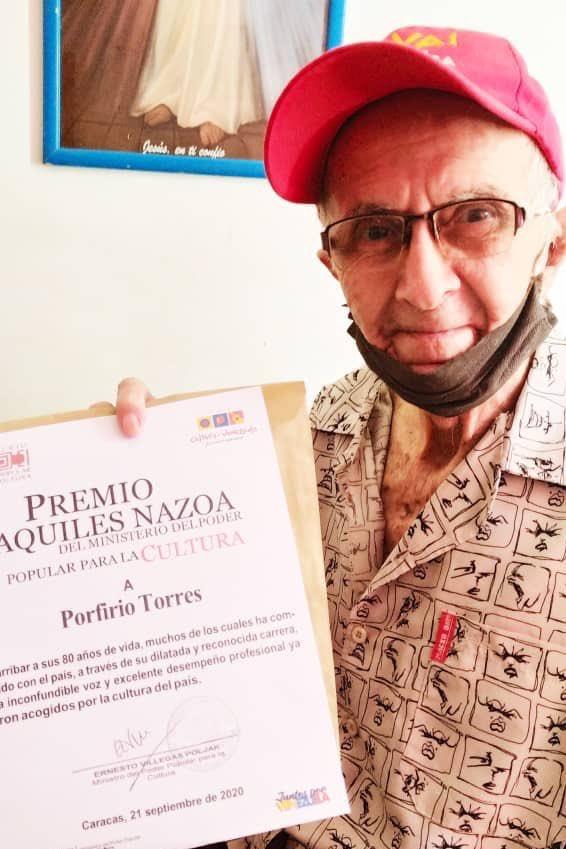 Muere el locutor venezolano Porfirio Torres a sus 81 años
